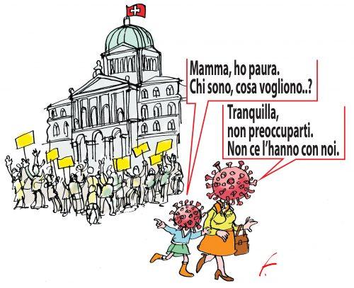 Manifestazioni a Berna e Covid Family