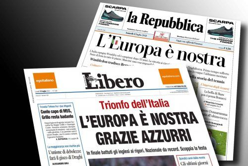 Italia in delirio: l'Europa è nostra!